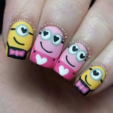 valentine minions nailstorming nail nails nailart angelina