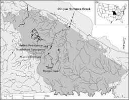 missouri caves map map of perry county missouri where grotto sculpin are found a