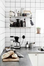 White Square Grid Tiles Backsplash Google Search Kitchen - Square tile backsplash