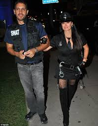 Police Halloween Costumes Kyle Richards Wears Scary Mask U0027s