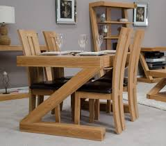 Z Dining Chairs by Z Solid Oak Designer 4 Seater Dining Table Furniture4yourhome