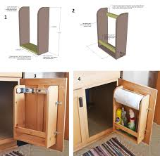amazing creativity how to make a kitchen cabinet door organizer