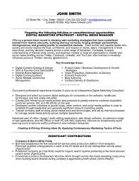 Sample Resume For Marketing Manager by Digital Marketing Manager Resume Berathen Com