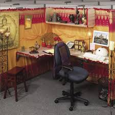 Office Cubicle Decorating Ideas Buddhism And Indian Fabrics Make This A Luscious Looking Office