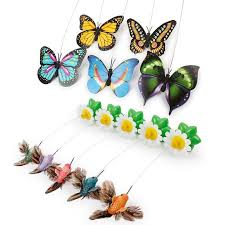 electric rotating colorful butterfly for cats radgears