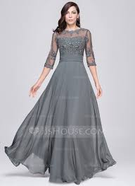 formal dresses a line princess scoop neck floor length chiffon evening dress with
