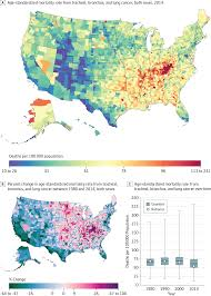 United States Area Code Map by Disparities In Cancer Mortality Among Us Counties 1980 2014