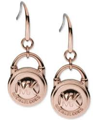 lock earrings michael kors gold tone lock drop earrings fashion jewelry