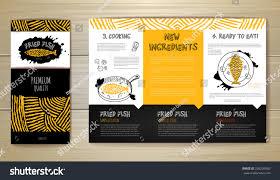fried fish restaurant menu concept design stock vector 266226560