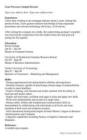 Loan Processor Resume Samples by 1902 Best Free Resume Sample Images On Pinterest Cover Letters
