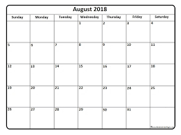 august 2018 calendar template printable 2017 calendars