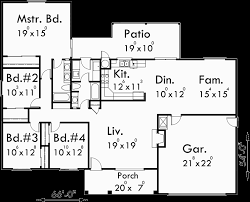 floor plans for ranch houses one house plans ranch house plans 4 bedroom house plans