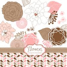 Small Invitation Cards 18 Flower Designs Clipart And Digital Paper For Scrapbooking
