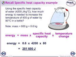 Specific Heat Table Specific Heat Capacity Table Custom Essay