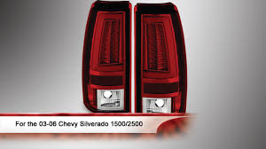 chevy silverado led tail lights 03 06 chevy silverado 1500 2500 version 2 led tail lights youtube