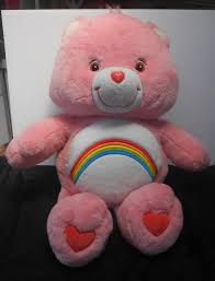 care bears jumbo cheer bear 28 1 2 plush 2002 rainbow belly cute
