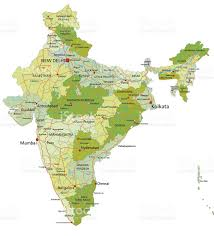 Delhi India Map by Highly Detailed Editable Political Map With Separated Layers India