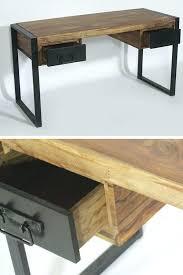 bureau industriel metal bois bureau style industriel en metal et bois minkras info