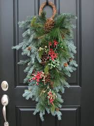 christmas swags for outdoor lights cozy design outdoor christmas swags garlands wreaths with lights