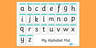 printable alphabet mat alphabet cards mats posters resources