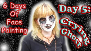 halloween crying ghost face painting tutorial day 5 youtube