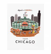 Chicago Map Wall Art by Chicago Art Print By Rifle Paper Co Made In Usa