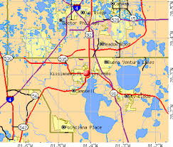 map of kissimmee kissimmee florida fl 34741 profile population maps