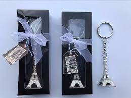 eiffel tower favors 100pcs silver eiffel tower key chain in gift box themed
