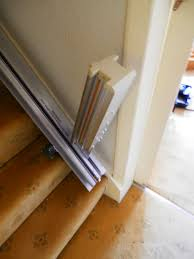 stairlift with a hinged track manchester leodis stairlifts
