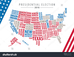 2016 Presidential Election Map by Vector 2016 Usa Presidential Election Map Stock Vector 394207537