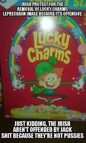 Leprechaun Meme - irish protest for the removal of lucky charms leprechaun image