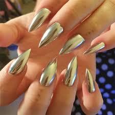 chrome powder for nails metallic effect nail powder mirror effect