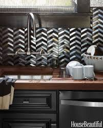 kitchen modern stainless steel copper backsplash tiles with
