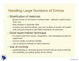 good experimental design lattice experimental design in agriculture lecture slides docsity