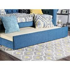 Tufted Daybed With Trundle Furniture Of America Hopper Tufted Daybed With Trundle In Dark