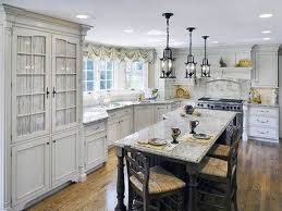 traditional kitchen island kitchen island mosaic glass shade chandelier with chain over