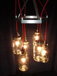How To Mason Jar Chandelier Red U0026 Metal Mason Jar Chandelier Id Lights