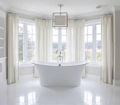 Comfort Bay Curtains Bay Windows Bathroom Traditional Bathroom Brooke Wagner Design