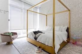 Gold Canopy Bed Gold Canopy Bed With Black Heres Throw Blanket Contemporary