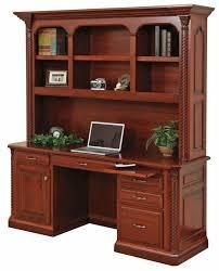 computer desk and credenza lexington 72 credenza with hutch top amish oak furniture