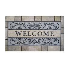 Welcome Doormats Trafficmaster Welcome Stone 24 In X 36 In Door Mat 60 730 0496