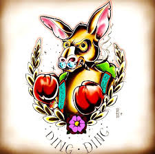 traditional kangaroo tattoo design