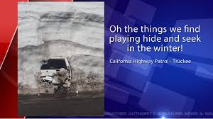 jeep snow california highway police unearth jeep buried by snow drifts