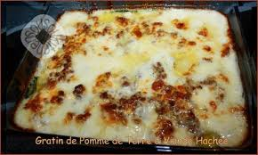recette cuisine pomme de terre gratin de pomme de terre et viande hachée