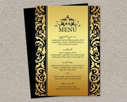 menu design for dinner party elegant wedding or christmas dinner party menu cards in gold