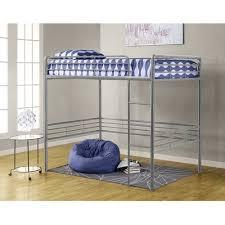 dorel versatile full size metal loft bed silver finish walmart com