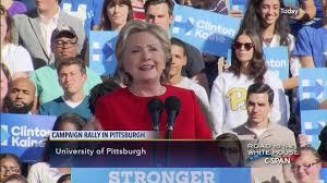 hillary clinton casts ballot 2016 election nov 8 2016 c span org