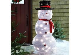 led snowman premier battery operated 22cm acrylic led snowman