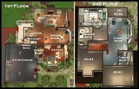 Suburban House Floor Plan by Mod The Sims Suburban Manor