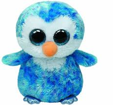 amazon ty beanie boos ice cube penguin leona blue